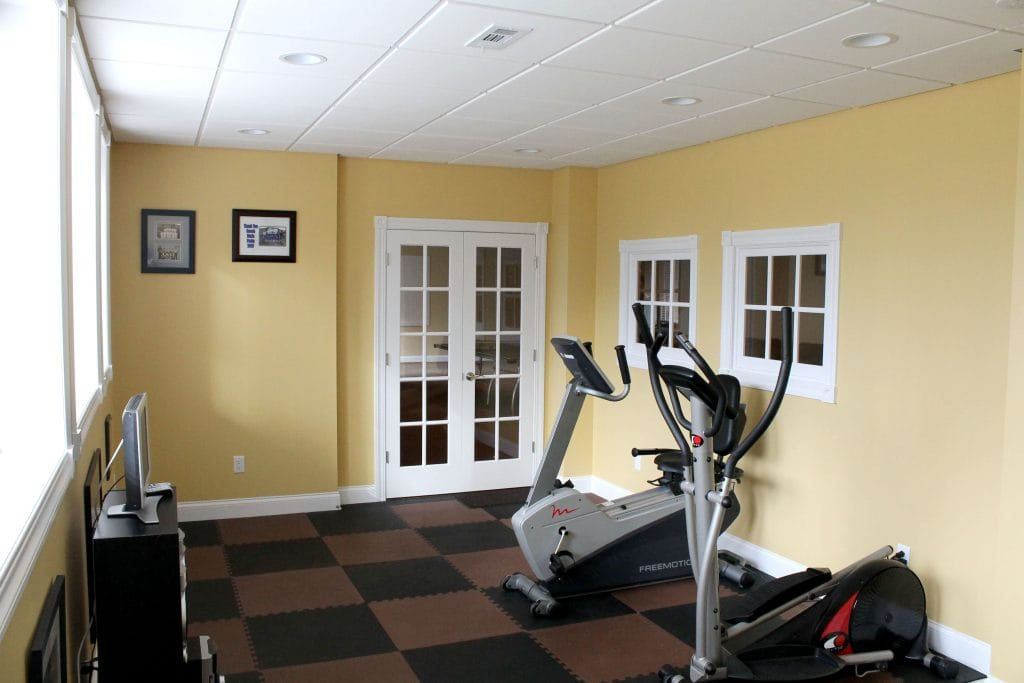 Your basement exercise workout room and gym air